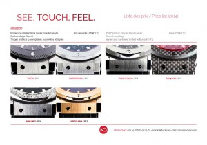 Liste prix See, Touch, Feel